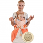 Кенгуру-рюкзак Чудо-Чадо Baby Active Luxe (бежево-оранжевый)